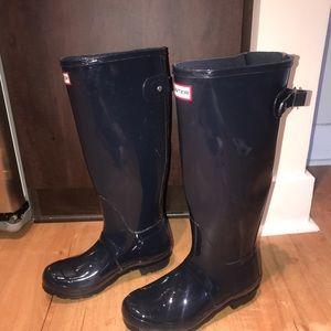 Hunter Navy Blue Tall Boots